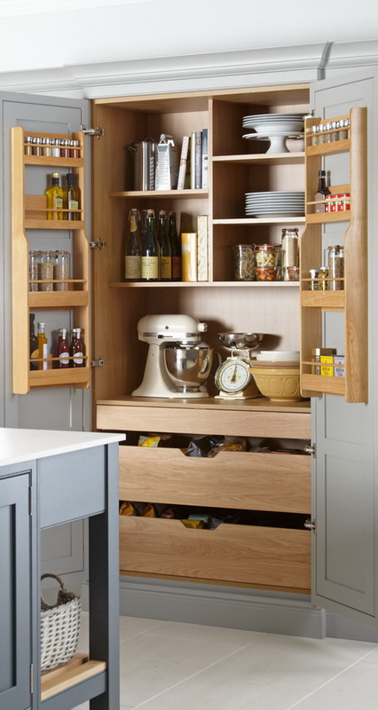 Double Larder Unit With Internal Drawers Cci